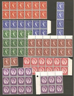 QE11 SG561/566 Collection of Graphite line issues Unmounted Mint