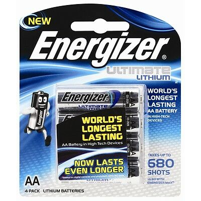 Energizer AA Lithium Batteries - 4 Pack