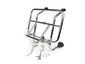 Vespa PX 125 150 200 T5 LML High Quality Chrome Front Luggage Rack Carrier