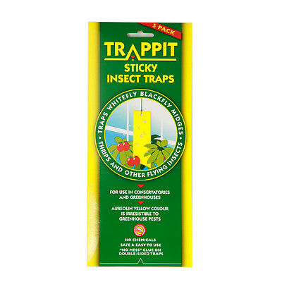 Trappit Yellow Sticky Insect Garden Trap - 5 Pack