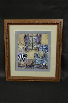 """FIONA IBBOTSON Original Painting - Titled """"Room"""" Signed Dated 1991"""