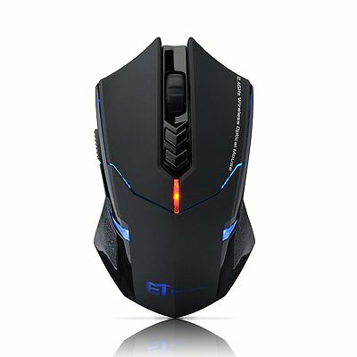 ET X-8 2.4Ghz 2400DPI PC Laptop Professional LED Wireless Gaming Mouse Mice