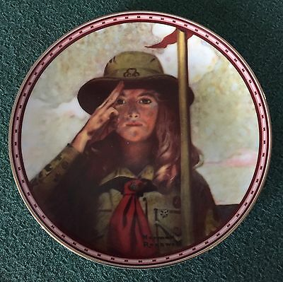 """Norman Rockwell Collector Plate """"On My Honor"""" Studies Of Girlhood"""