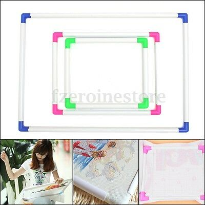 Plastic Embroidery Frame Cross Stitch Hoop Craft Tool Universal Hand Holding