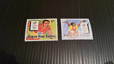 Papua New Guinea  1988 Sg 583-584 Olympic Games  Mnh