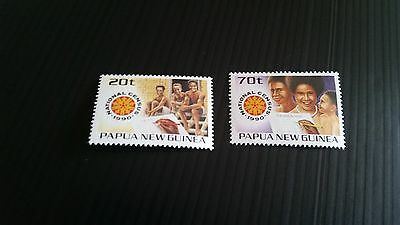 Papua New Guinea  1990 Sg 615-616 National Census  Mnh