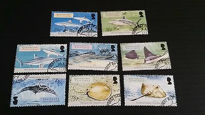 British Indian Ocean Territory 2005 Sg 336-343 Sharks And Rays Used