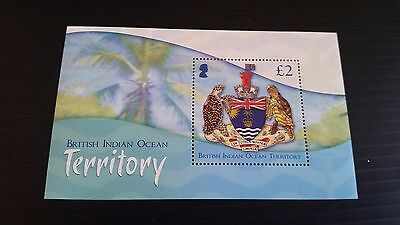 British Indian Ocean Territory 2014 Sg Ms487 Crest  Mnh