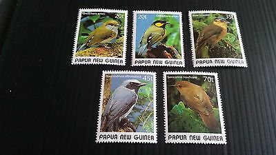 Papua New Guinea  1989 Sg 597-601 Small Birds (2Nd Issue) Mnh