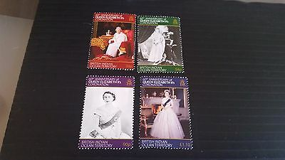 British Indian Ocean Territory 2013 Sg 481-484 60Th Anniv Of Coronation  Mnh