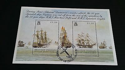 British Indian Ocean Territory 2005 Sg Ms325 Bicent Of Battle Of Trafalgar Used