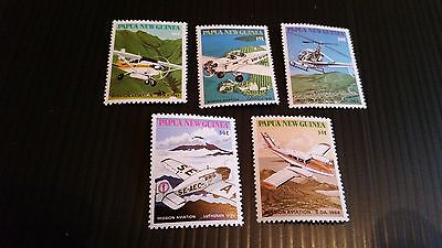 Papua New Guinea  1981 Sg 412-41 6 Mission Aviation Mnh