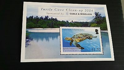 British Indian Ocean Territory 2005 Sg Ms318 Turtles Mnh
