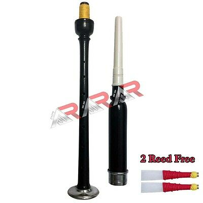 Brand New Rosewood Practice Chanter Black Color Silver Mounts with 2 Reeds