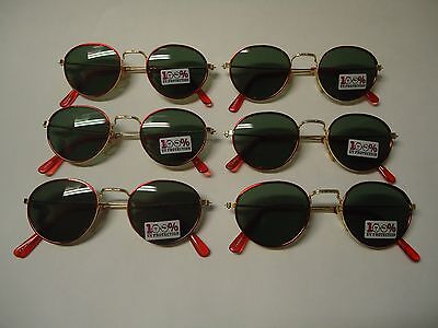 6 Pair of Quality FASHION SUNGLASSES for CHILDREN new 100% UV PROTECTION lot