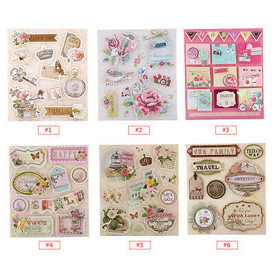Creative Paper Craft 3D Self-adhesive Stickers for DIY Scrapbooking/Card Making