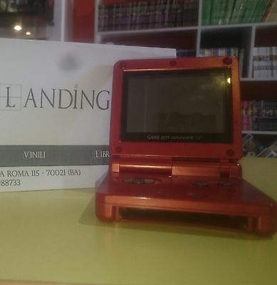 Console Nintendo Game Boy Advance Sp Rosso, Gba Sp, Ags 001, Usato
