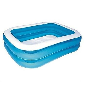 NEW Bestway Rectangular Inflatable Family Swimming Pool - Blue