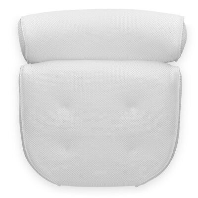 Navaris Bathtub pillow suction-cups cushion for neck, head and shoulders