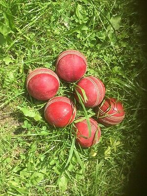 6 Used Cricket Balls - perfect for Nets or practice,
