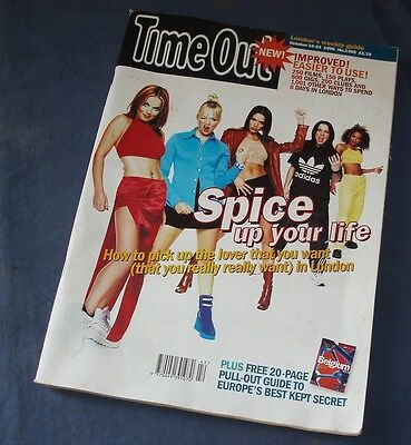 TIME OUT Magazine October 1996 - Spice Girls on Cover - Special Interview Inside