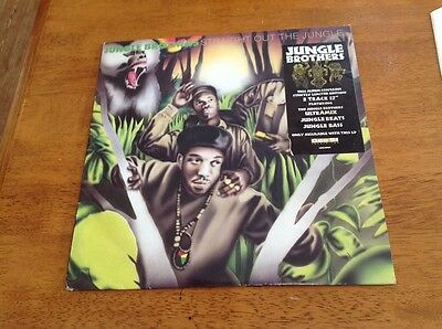 "JUNGLE BROTHERS - Straight Out The Jungle - original vinyl LP & 12"" - NEAR EX."