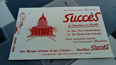 Buvard publicitaire ancien Magasin Chaussures