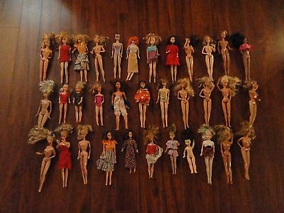 Lot Of 34 Vintage Barbie Dolls Twist'n Turn Midge Casey Japan Charlie's Angels