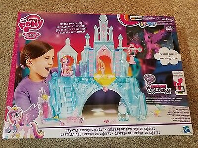My Little Pony Explore Equestria Crystal Empire Castle Playset Lights Up