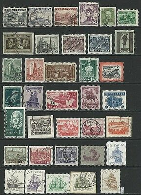 #5412 POLAND Lot/Collection mostly Used