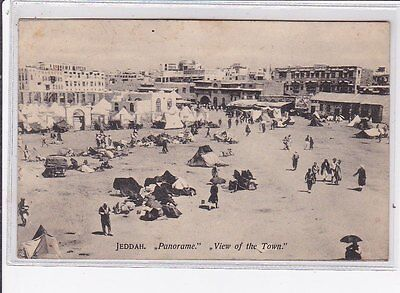 """ASIA : old postcard : jeddah """"panorame"""" view of the town"""