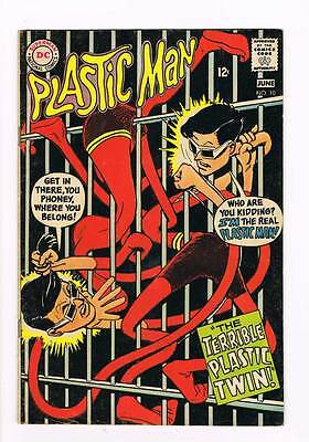 Plastic Man # 10 The Terrible Plastic Twin ! grade - 5.0 scarce book !!