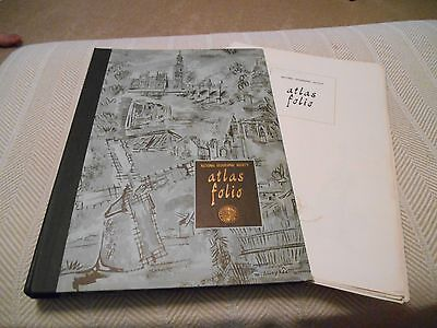 Vintage National Geographic Society Atlas Folio, Oversize Map Portfolio 39 Maps