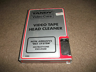 """Vintage  Realistic """"tandy Vhs Video Care Tape Head Cleaner Wet System"""