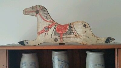 Early Antique Wooden Horse Silhouette. .old Paint Aafa...primitive Wall Decor