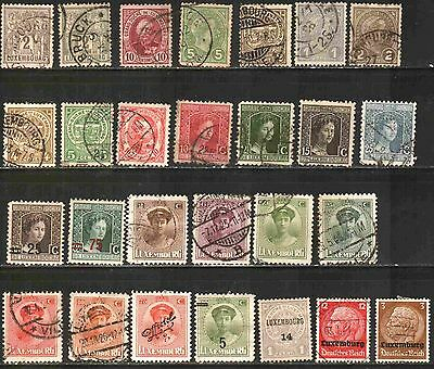 Luxembourg Early Collection 27 Used & Unused Lt-60.4