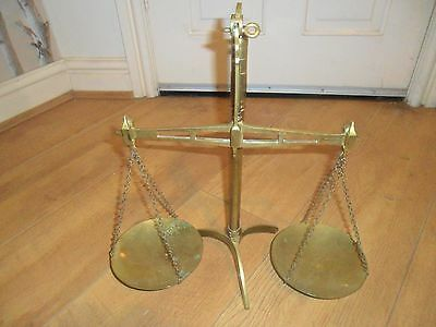superb set of large brass avery balance scales