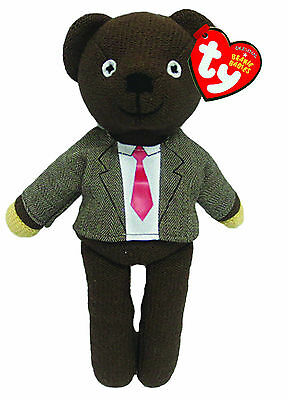 Ty Beanie Mr Bean Teddy With Jacket And Tie  Soft Toy 9 Inch New Gift 46226
