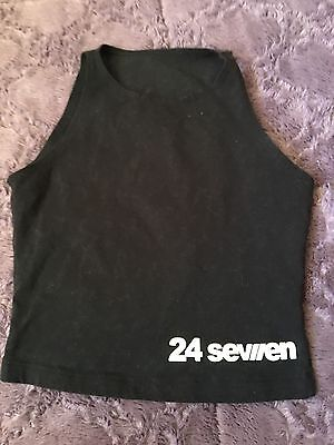 Cotton Spandex Sleeveless Crop Top Size Youth Small~ 24 Seven Dance