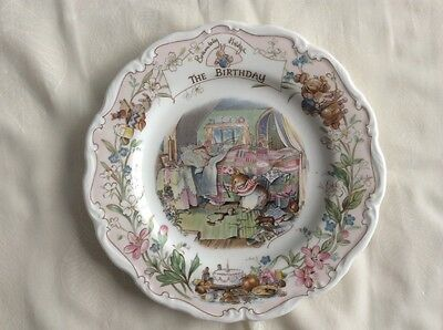Royal Doulton Brambly Hedge 8 Inch Plate - The Birthday