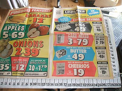 9 Loblaws Grocery Store Ads Canandaigua New York 1971-1973
