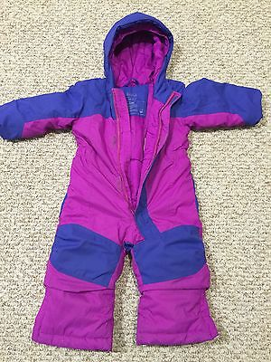 Pink & Purple LL Bean toddler Snowsuit w/ Grow Cuffs (12-18 months)