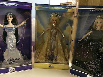 Collector editions, 3 lot, Celestial barbie dolls