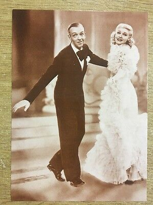VINTAGE POSTCARD - Sepia Fred Astair and Ginger Rogers