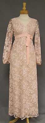 Helen Rose Pale Pink Lace 1960's Evening Dress Gown