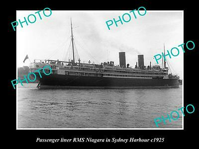OLD LARGE HISTORIC PHOTO OF THE PASSENGER LINER RMS NIAGARA IN SYDNEY NSW c1925