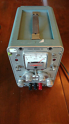 Power Designs Model 2020 Precision Dc Source 0-20V 0-2A Tested Works Perfect