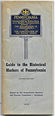 "1952 Booklet ""Guide to the Historical Markers of Pennsylvania"""