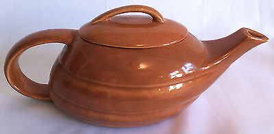 Vintage Art Deco Brown Bauer Aladdin Streamline Teapot by Ray Murray Circa 1940
