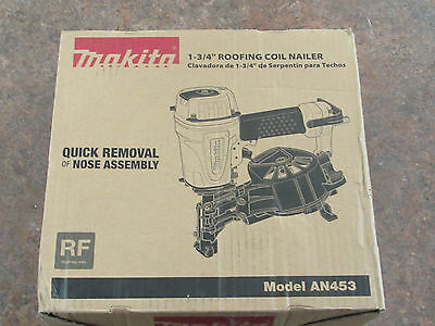 New Makita 1-3/4 inch Coil Roofing Nailer AN453